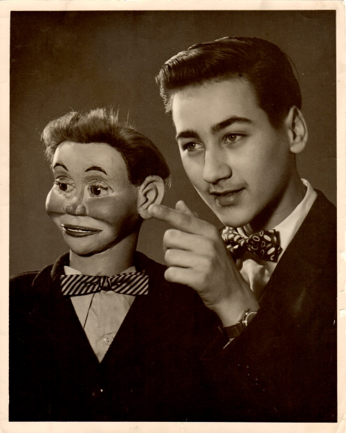 Aspiring ventriloquist Don Bryan as a young man